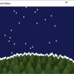 Python pygame ve kar yağışı